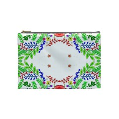 Holiday Festive Background With Space For Writing Cosmetic Bag (medium)  by Nexatart