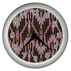 Pearly Pattern Wall Clocks (silver)  by Nexatart