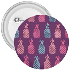 Pineapple Pattern  3  Buttons by Nexatart