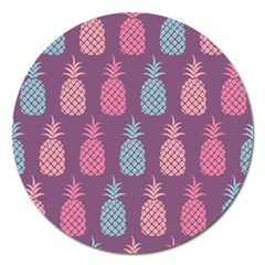 Pineapple Pattern  Magnet 5  (round) by Nexatart