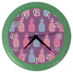 Pineapple Pattern  Color Wall Clocks