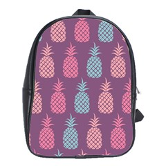 Pineapple Pattern  School Bags(large)  by Nexatart
