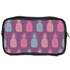 Pineapple Pattern  Toiletries Bags 2 Side by Nexatart
