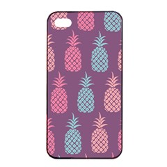 Pineapple Pattern  Apple Iphone 4/4s Seamless Case (black) by Nexatart