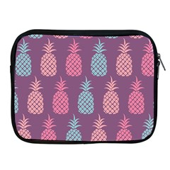 Pineapple Pattern  Apple Ipad 2/3/4 Zipper Cases by Nexatart