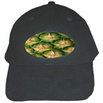 Pineapple Pattern Black Cap Front