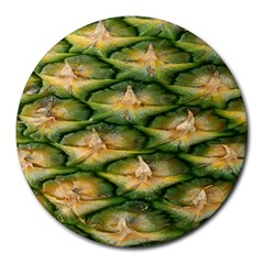Pineapple Pattern Round Mousepads by Nexatart