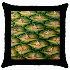 Pineapple Pattern Throw Pillow Case (black) by Nexatart