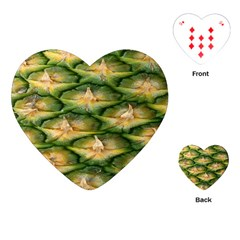 Pineapple Pattern Playing Cards (heart)  by Nexatart