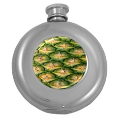 Pineapple Pattern Round Hip Flask (5 Oz) by Nexatart