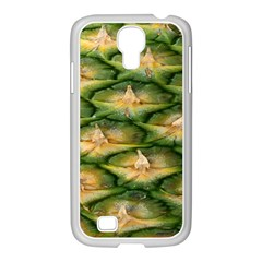 Pineapple Pattern Samsung Galaxy S4 I9500/ I9505 Case (white) by Nexatart