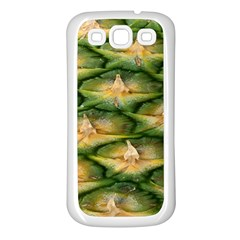 Pineapple Pattern Samsung Galaxy S3 Back Case (white) by Nexatart