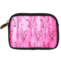 Pink Curtains Background Digital Camera Cases by Nexatart