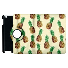 Pineapple Wallpaper Pattern Apple Ipad 3/4 Flip 360 Case by Nexatart