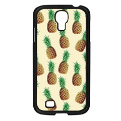 Pineapple Wallpaper Pattern Samsung Galaxy S4 I9500/ I9505 Case (black) by Nexatart