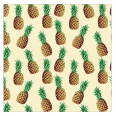 Pineapple Wallpaper Pattern Large Satin Scarf (square) by Nexatart