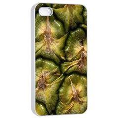 Pineapple Fruit Close Up Macro Apple Iphone 4/4s Seamless Case (white) by Nexatart