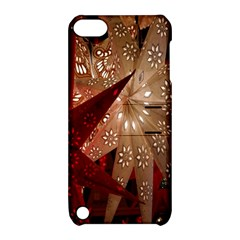 Poinsettia Red Blue White Apple Ipod Touch 5 Hardshell Case With Stand