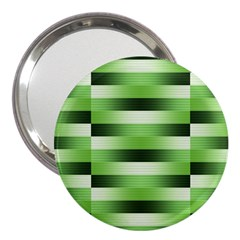 Pinstripes Green Shapes Shades 3  Handbag Mirrors