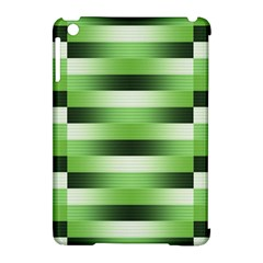 Pinstripes Green Shapes Shades Apple Ipad Mini Hardshell Case (compatible With Smart Cover) by Nexatart