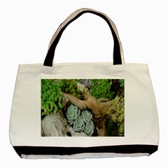 Plant Succulent Plants Flower Wood Basic Tote Bag (two Sides)