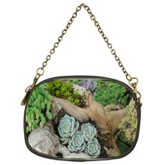 Plant Succulent Plants Flower Wood Chain Purses (one Side)  by Nexatart