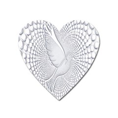 Points Circle Dove Harmony Pattern Heart Magnet by Nexatart