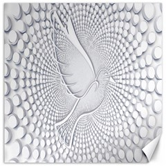 Points Circle Dove Harmony Pattern Canvas 20  X 20