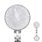 Points Circle Dove Harmony Pattern Stainless Steel Nurses Watch Front