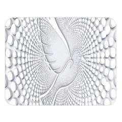 Points Circle Dove Harmony Pattern Double Sided Flano Blanket (large)  by Nexatart