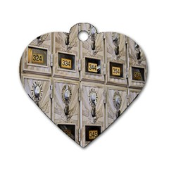 Post Office Old Vintage Building Dog Tag Heart (one Side) by Nexatart