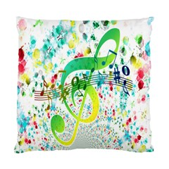 Points Circle Music Pattern Standard Cushion Case (two Sides) by Nexatart