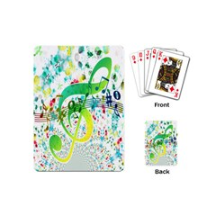 Points Circle Music Pattern Playing Cards (mini)
