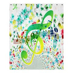 Points Circle Music Pattern Shower Curtain 60  X 72  (medium)  by Nexatart