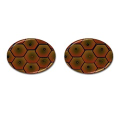 Psychedelic Pattern Cufflinks (oval) by Nexatart