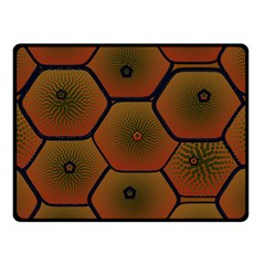 Psychedelic Pattern Fleece Blanket (small) by Nexatart