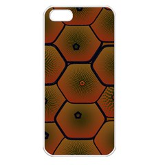 Psychedelic Pattern Apple Iphone 5 Seamless Case (white) by Nexatart