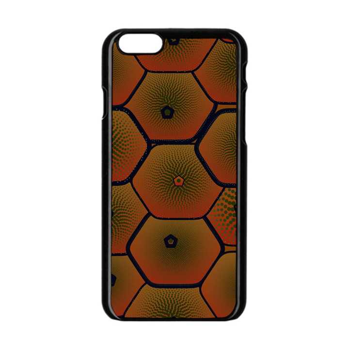 Psychedelic Pattern Apple iPhone 6/6S Black Enamel Case