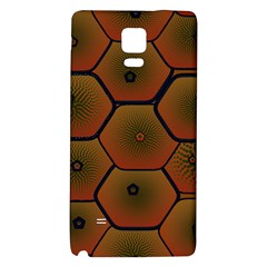 Psychedelic Pattern Galaxy Note 4 Back Case by Nexatart