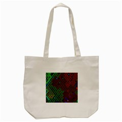 Psychedelic Abstract Swirl Tote Bag (cream) by Nexatart