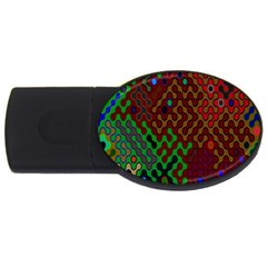 Psychedelic Abstract Swirl Usb Flash Drive Oval (4 Gb) by Nexatart