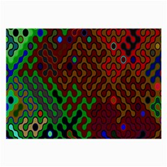 Psychedelic Abstract Swirl Large Glasses Cloth (2 Side) by Nexatart