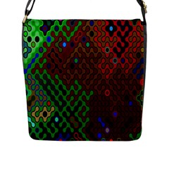 Psychedelic Abstract Swirl Flap Messenger Bag (l)