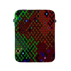 Psychedelic Abstract Swirl Apple Ipad 2/3/4 Protective Soft Cases by Nexatart