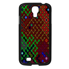 Psychedelic Abstract Swirl Samsung Galaxy S4 I9500/ I9505 Case (black) by Nexatart