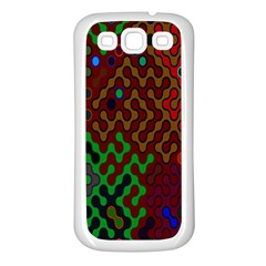 Psychedelic Abstract Swirl Samsung Galaxy S3 Back Case (white) by Nexatart