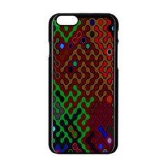 Psychedelic Abstract Swirl Apple Iphone 6/6s Black Enamel Case by Nexatart