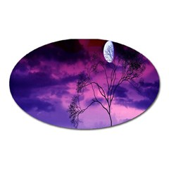Purple Sky Oval Magnet