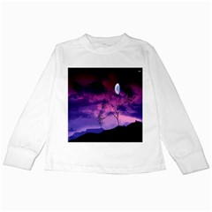 Purple Sky Kids Long Sleeve T-shirts