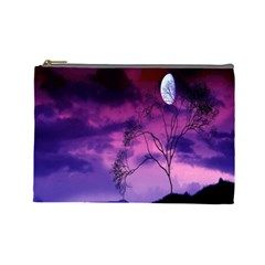 Purple Sky Cosmetic Bag (large)  by Nexatart